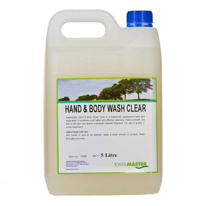 Kwikmaster Hand Amp Body Soap 5lt Clear Perth Western