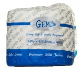 GEM 2PLY 400 SHEET PREMIUM TOILET TISSUE